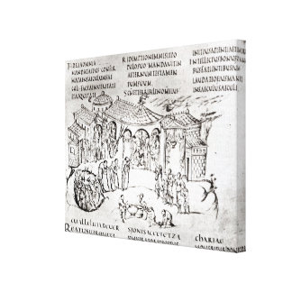 Various scenes illustrating a psalm canvas print