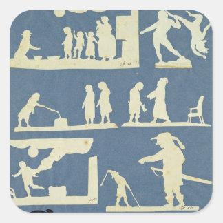 Various Scenes Square Sticker