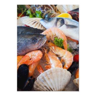Various Seafood Card
