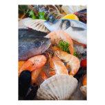 Various Seafood Custom Invites