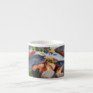 Various Seafood Espresso Cup