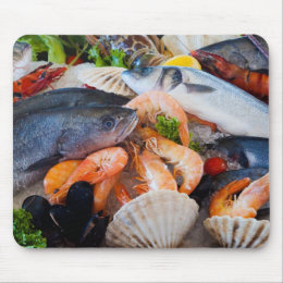 Various Seafood Mouse Pad