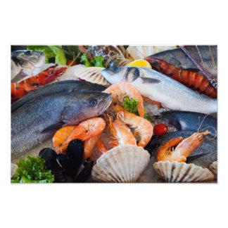Various Seafood Photo Print