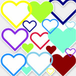 [ Thumbnail: Various Sized Heart Shapes Stickers ]