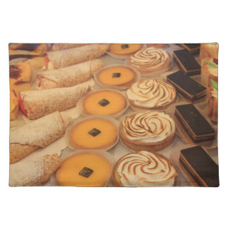 various sorts of pastry placemat cloth place mat