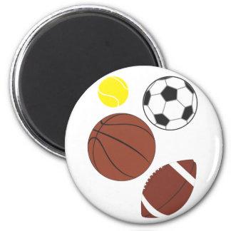 Various Sports Balls Close Up Magnet