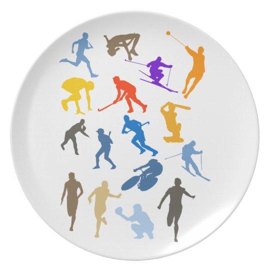 Various Sports Dinner Plate