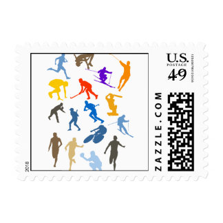 Various Sports Postage Stamp