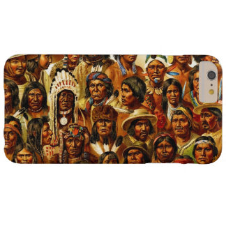 Various Tribes of Native American Indians Collage Barely There iPhone 6 Plus Case