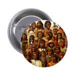 Various Tribes of Native American Indians Collage Buttons