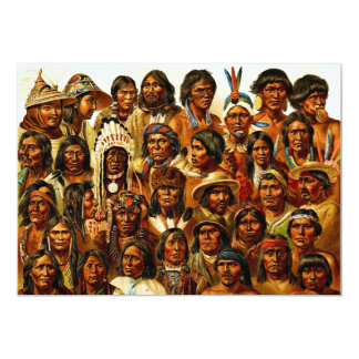 Various Tribes of Native American Indians Collage Card