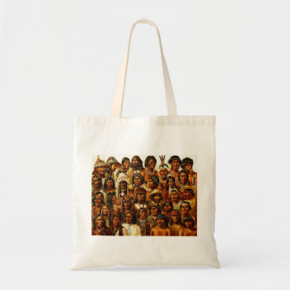 Various Tribes of Native American Indians Collage Tote Bag
