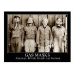 Various types of Gas Masks Post Cards