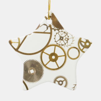 Various Watch Cogs Ceramic Ornament