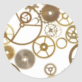 Various Watch Cogs Classic Round Sticker