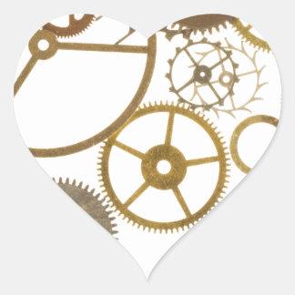 Various Watch Cogs Heart Sticker