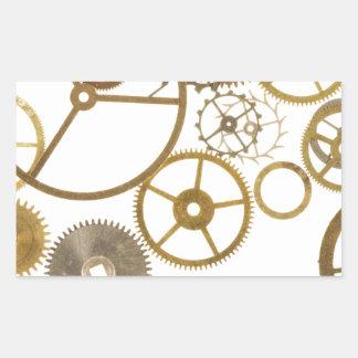 Various Watch Cogs Rectangular Sticker