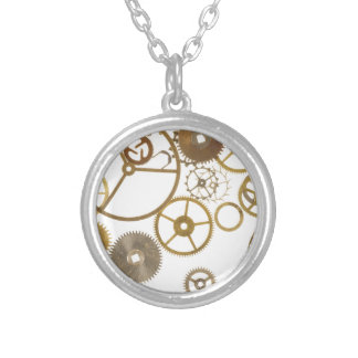 Various Watch Cogs Silver Plated Necklace