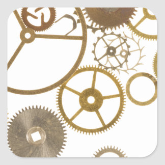 Various Watch Cogs Square Sticker