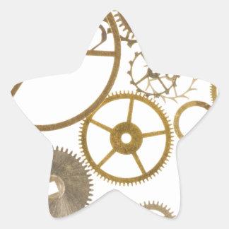 Various Watch Cogs Star Sticker