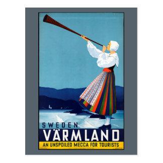 Varmland, Sweden Vintage Travel Poster Postcard