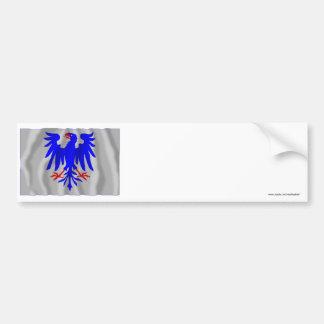 Värmlands län waving flag bumper sticker