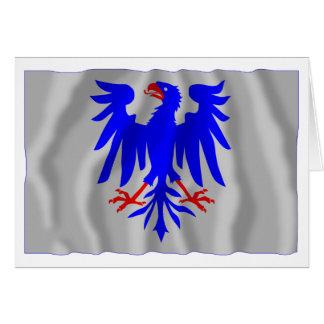 Värmlands län waving flag card