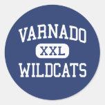 Varnado - Wildcats - High School - Angie Louisiana Round Stickers