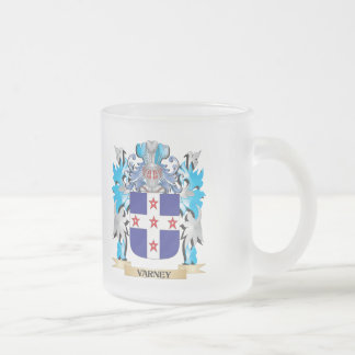 Varney Coat of Arms - Family Crest 10 Oz Frosted Glass Coffee Mug