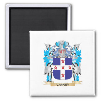 Varney Coat of Arms - Family Crest 2 Inch Square Magnet