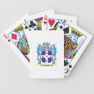 Varney Coat of Arms - Family Crest Bicycle Playing Cards