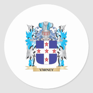 Varney Coat of Arms - Family Crest Classic Round Sticker