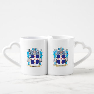 Varney Coat of Arms - Family Crest Couples' Coffee Mug Set