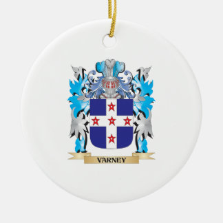 Varney Coat of Arms - Family Crest Double-Sided Ceramic Round Christmas Ornament