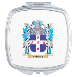 Varney Coat of Arms - Family Crest Mirror For Makeup