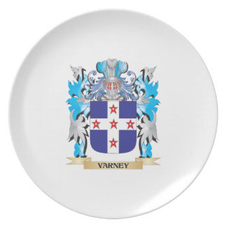 Varney Coat of Arms - Family Crest Plate