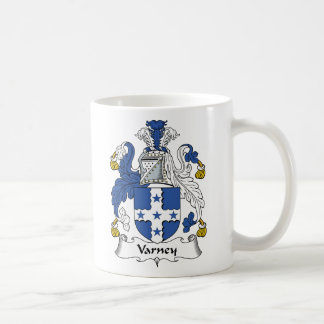 Varney Family Crest Classic White Coffee Mug