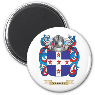 Varney Family Crest (Coat of Arms) 2 Inch Round Magnet