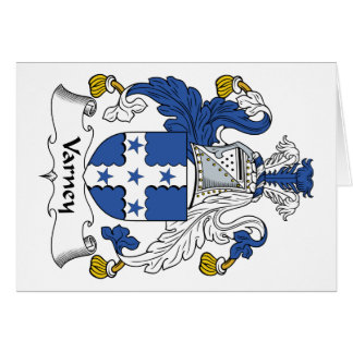 Varney Family Crest Greeting Card