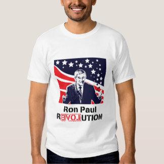 Varón blanco de la camiseta de la revolución de polera