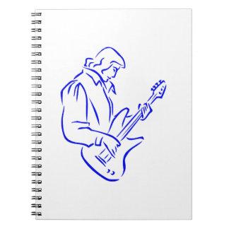 varón blue.png del esquema del bajista spiral notebook