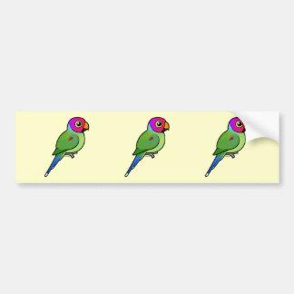 varón Ciruelo-dirigido del Parakeet Etiqueta De Parachoque