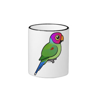 varón Ciruelo-dirigido del Parakeet Taza De Café