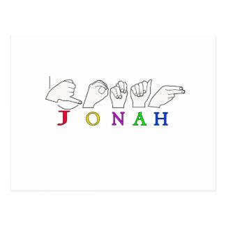 VARÓN CONOCIDO DE LA MUESTRA DE JONAH ASL POSTAL