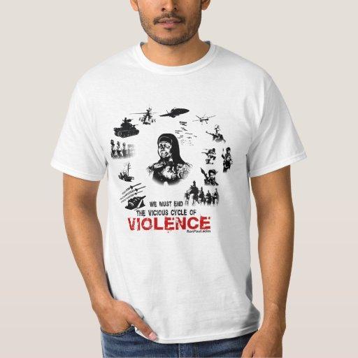 Varón de la camiseta de la violencia playeras