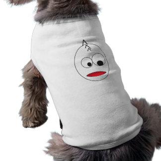 varón de la cara del dibujo animado playera sin mangas para perro