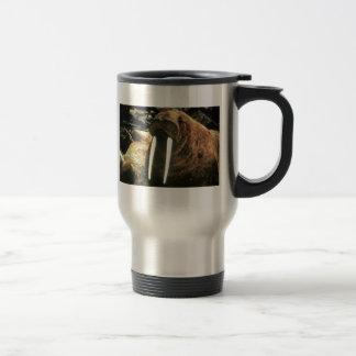 Varón de la morsa taza de viaje de acero inoxidable