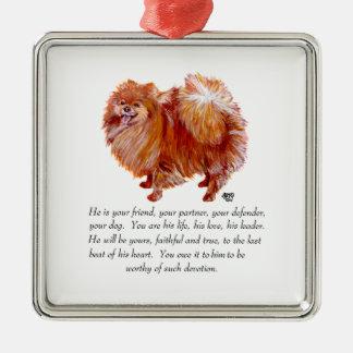 Varón del recuerdo de Pomeranian Adornos De Navidad