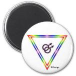 Varón del triángulo del arco iris/varón imán de frigorifico