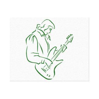 varón green.png del esquema del bajista impresiones en lona
